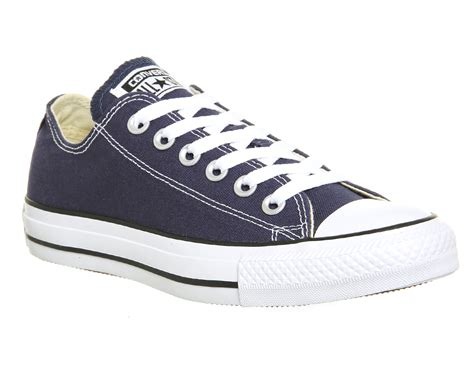 Converse Slop Navy converse all low in blue for lyst