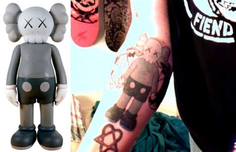 kaws tattoo tattoos inspired by companion by kaws jeremyriad
