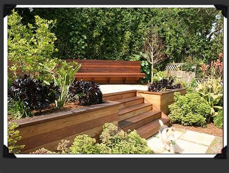 garden retaining wall bench wooden retaining walls with cedar fascia and bench
