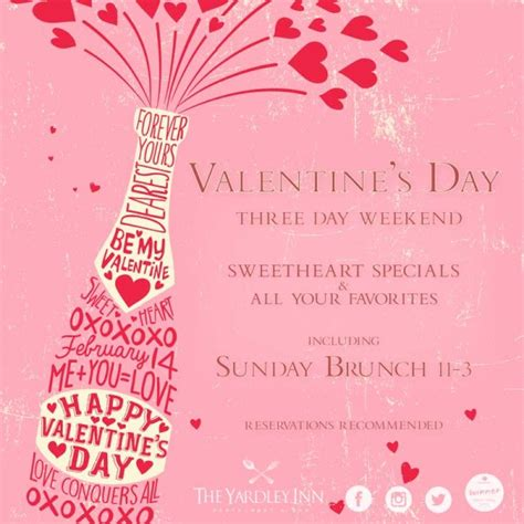 valentines day shows s day weekend the yardley inn
