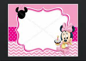 minnie mouse card templates minnie mouse blank invitation birthday thank you by