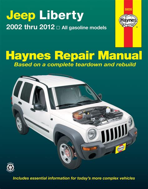 car repair manuals online pdf 2012 jeep liberty electronic valve timing jeep liberty 02 12 haynes repair manual haynes manuals