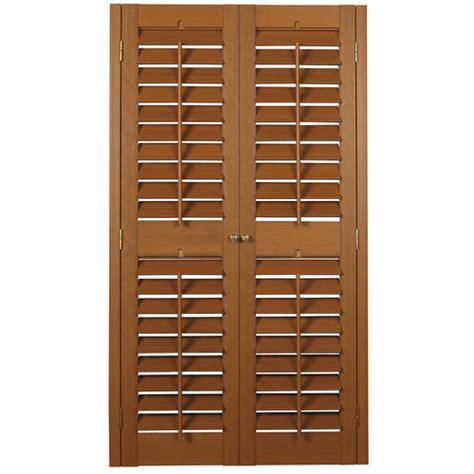 plantation faux wood oak interior shutter price varies by size homebasics 174 plantation faux wood interior shutter 39 quot 41