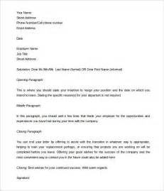 2 Weeks Notice Template Word by Two Weeks Notice Letter 31 Free Word Pdf Documents