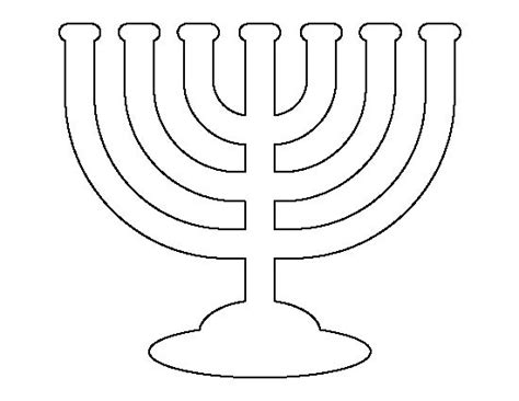 menorah pattern use the printable outline for crafts