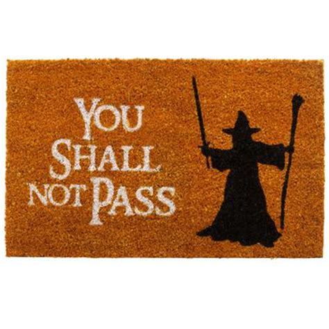 You Shall Not Pass Doormat doormat you shall not pass getdigital