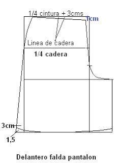 como hacer una falda cana media falda pantalon