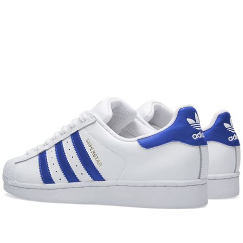 adidas superstar foundation white blue the sole supplier