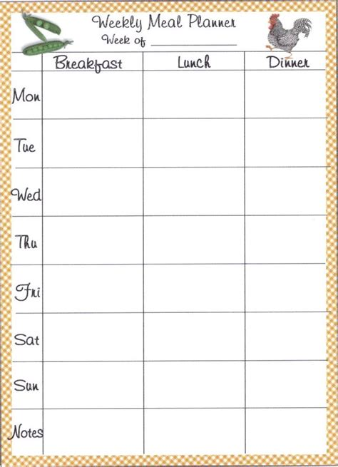 excel meal planner template kays makehauk co