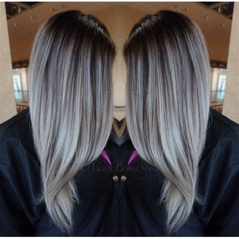 Bayalage Grey Hair | grey hair balayage hair pinterest gray hair