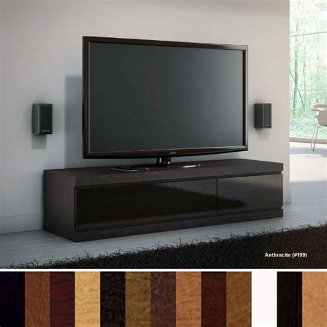 Home Theater Credenza jsp industries linea large home theater credenza anthracite l 90 c 199