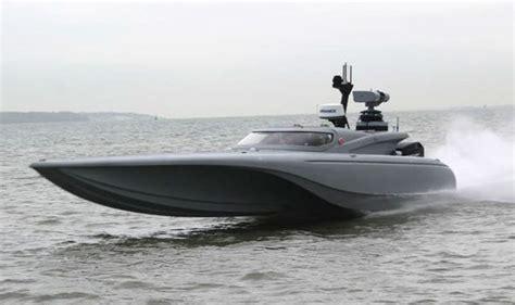 fast underwater boat navy tests unmanned bladerunner robotic speedboat to