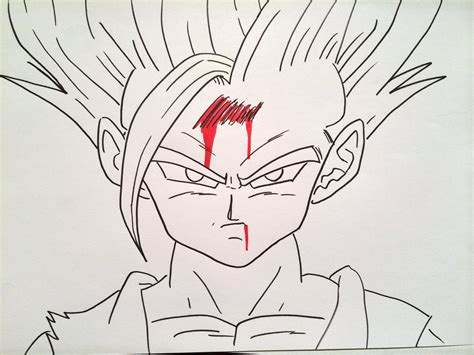doodle draw 2 miniclip how to draw gohan saiyan 2 どのようにご飯スーパーサイヤ人2を描画します