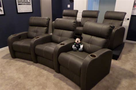 home theater sofa recliner red leatherette home theater movie screening recliner theater in delhi