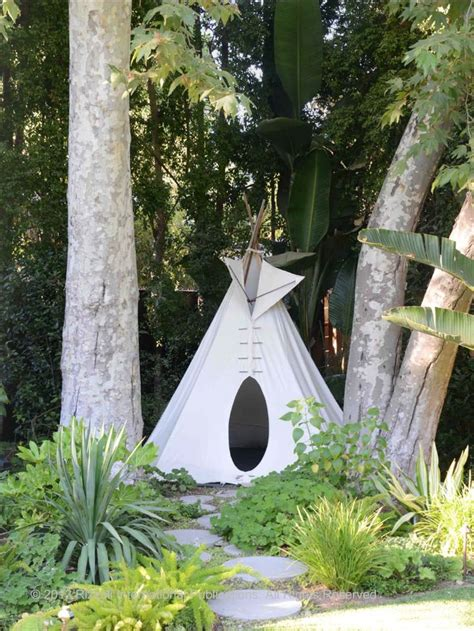 Backyard Teepee by Gardens Are For Living