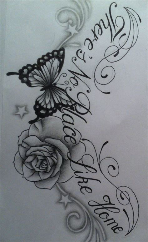 rose tattoo with words images of roses and butterfly tattoos butterfly