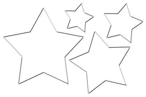 free star glasses template coloring pages