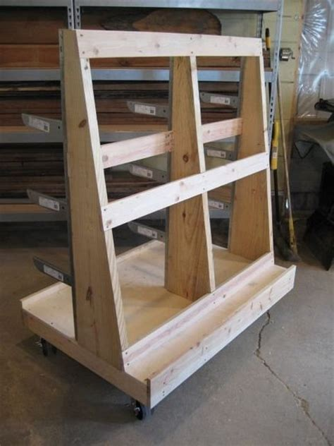 Sheet Goods And Wood Storage Cart By Randy Price