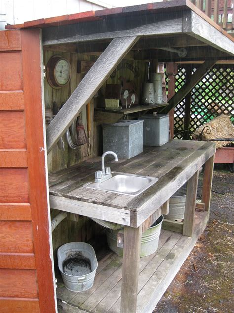 easy diy outdoor bench garden sink potting tables