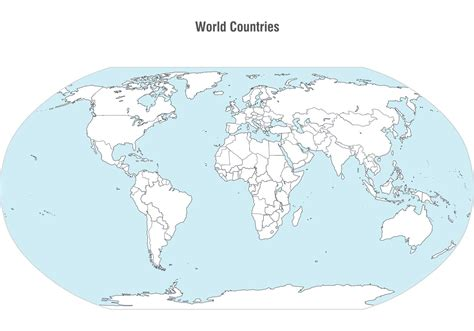 world vector map world countries map vector free vector
