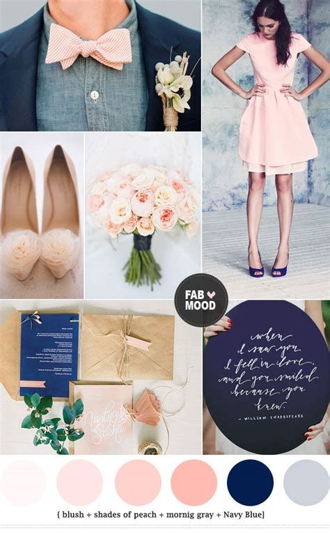 peach color schemes navy blue and peach wedding colors peach wedding colors