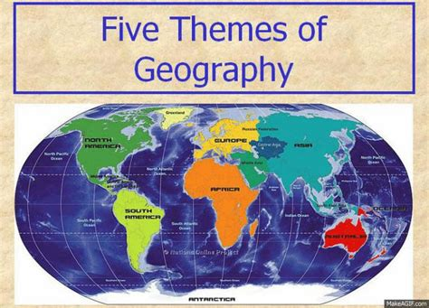 themes of geography list five themes of geography note sheet geography and