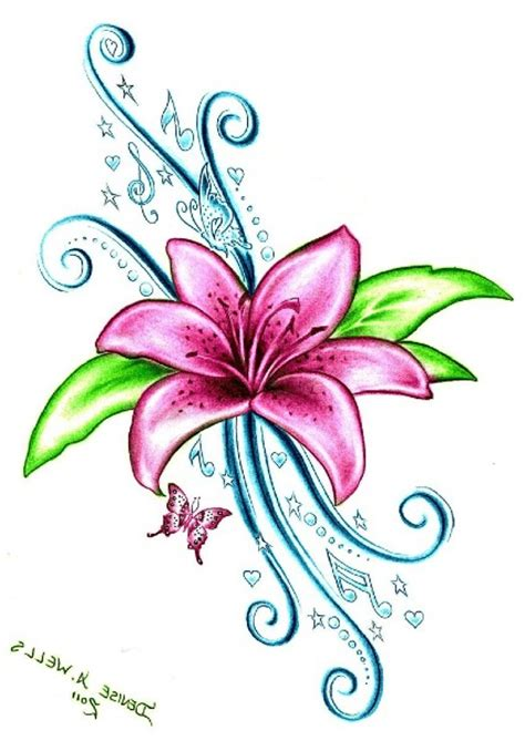 tattoo flower graphic lily flower tattoo ideas clipart best