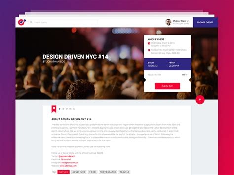 Event Website Template Psd Free Psds Sketch App Resources For Designers Uipixels Event Website Template