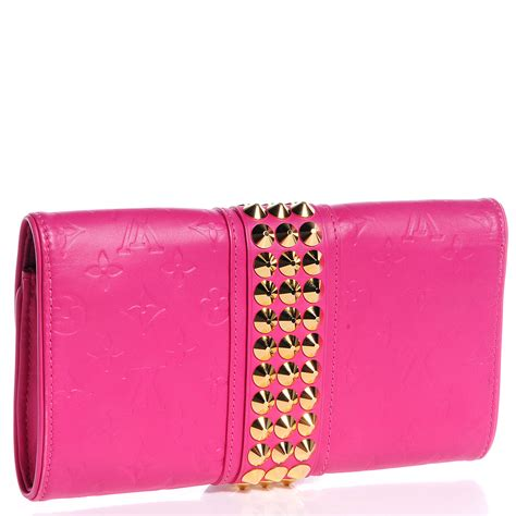 Louis Vuitton Leather Embossed With Clutch 9311 louis vuitton embossed leather pochette clutch fuchsia 71064