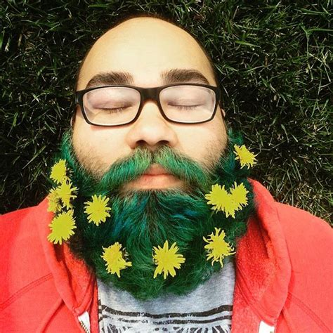 guys are decorating their beards with flowers to celebrate men are decorating their beards with flowers for spring
