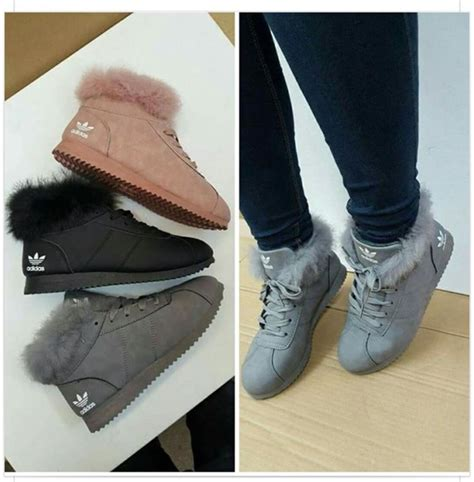 shoes fur boots adidas winter suede brown winter sneakers adidas shoes