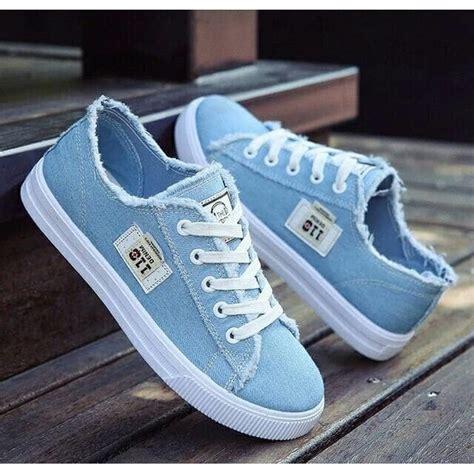 Sepatu Casual Wanita Biru Muda grosir sepatu kets levis denim wanita termurah sneakers