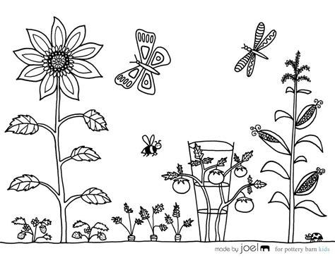 garden coloring vegetable garden coloring sheet made by joel