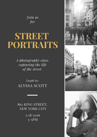 street portraits grayscale collage poster templates  canva