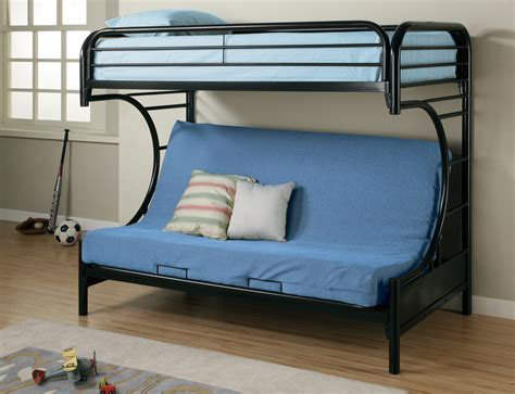 bunk beds with futon black metal futon sofa bed frame best 25 metal futon ideas