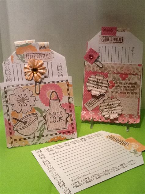 blank recipe cards hobby lobby the altered book playground easy project recipe card 2