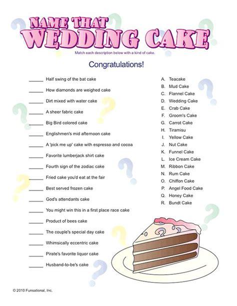 Wedding Cake Quiz by Name That Wedding Cake Picnics