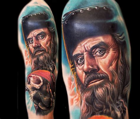 nikko hurtado tattoo blackbeard portrait by nikko hurtado no 174