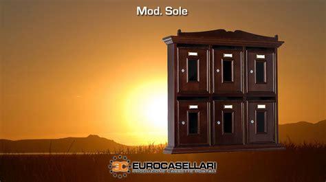 cassetta postale in legno modello sole eurocasellari
