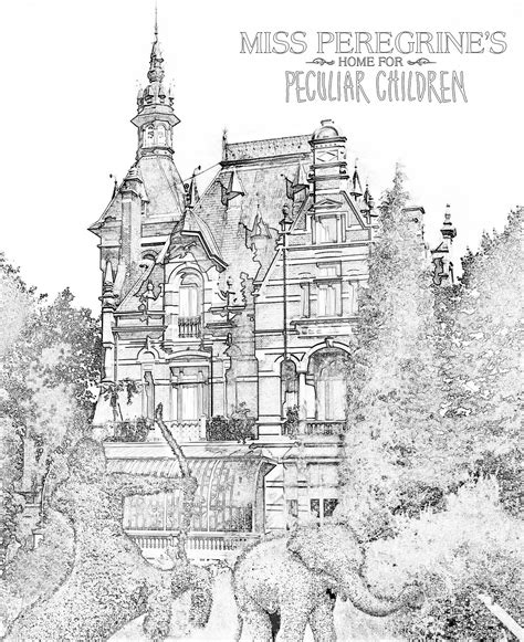 free coloring pages inspired by miss peregrine s
