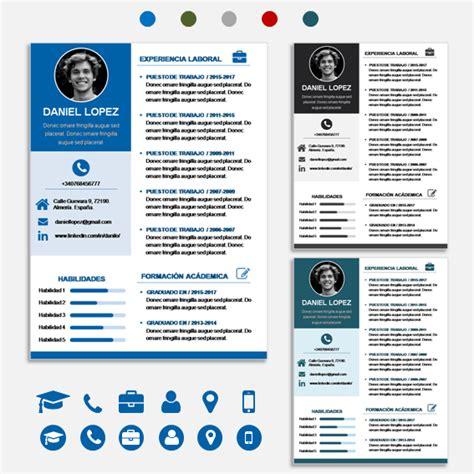 Plantillas De Curriculum Word 2014 plantilla de curriculum vitae moderno 50 tipos de