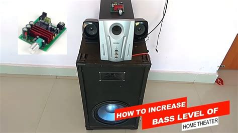 increase bass level  home theater