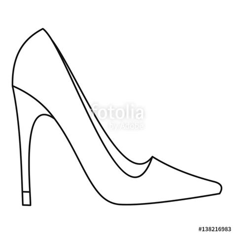 High Heel Shoes Outline by Quot High Heel Shoe Icon Outline Style Quot Stock Image And Royalty Free Vector Files On