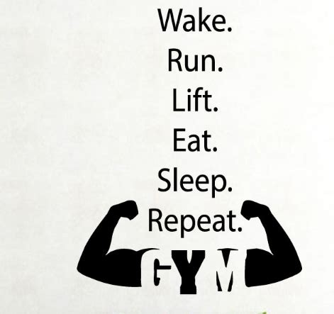 Plane Wall Stickers fitness vinyl wall decal boy quote run lift eat gym