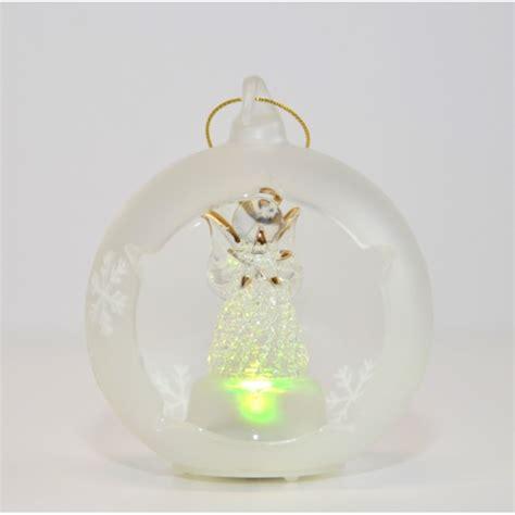 glass angels that light up angel light up glass ornament