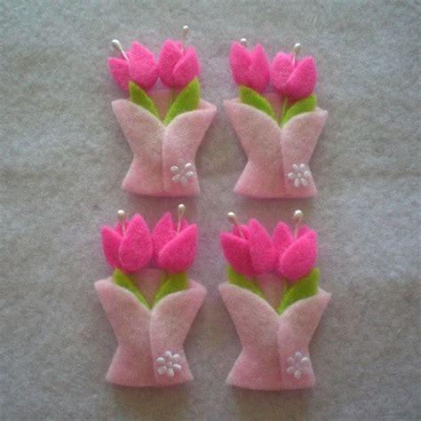 felt applique handmade tulip felt applique pink 5 00 via etsy