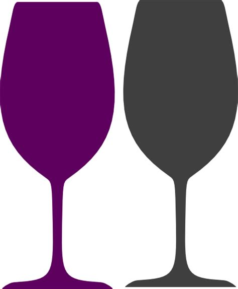 wine glass silhouette purple and gray wine glasses clip art at clker com