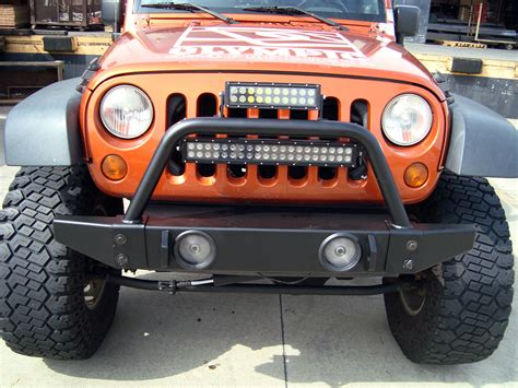 jeep light bar olympic 4x4 products front rock bumper without hitch for
