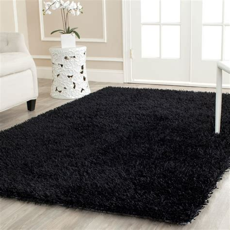 black rug safavieh paris handmade black area rug reviews wayfair