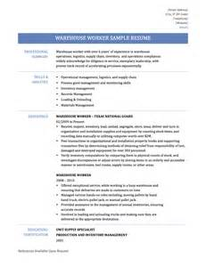 Resume Samples For Warehouse by Warehouse Worker Resume Samples Template Amp Tips